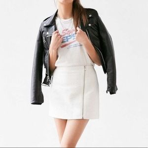 Urban Outfitters Ecote Zip Skirt White